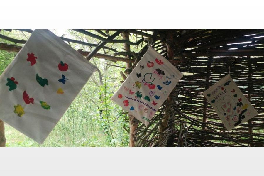 Textilmalerei im NABU-Artenschutzzentrum – Wir gestalten unseren eigenen Turnbeutel