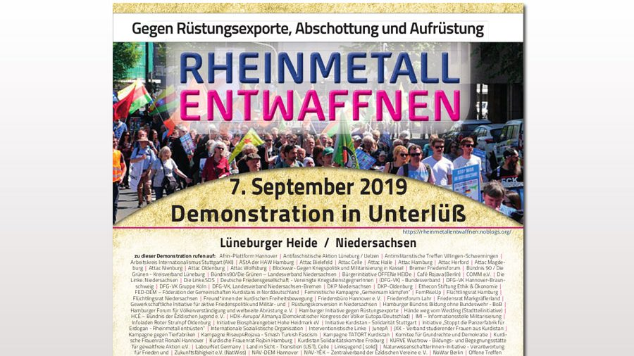 """Rheinmetall entwaffnen"" – Camp und Demonstration in Unterlüß"
