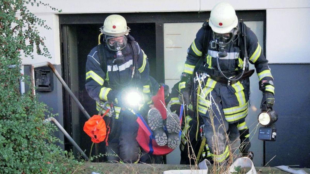 Feuerwehr Westercelle übt den Ernstfall