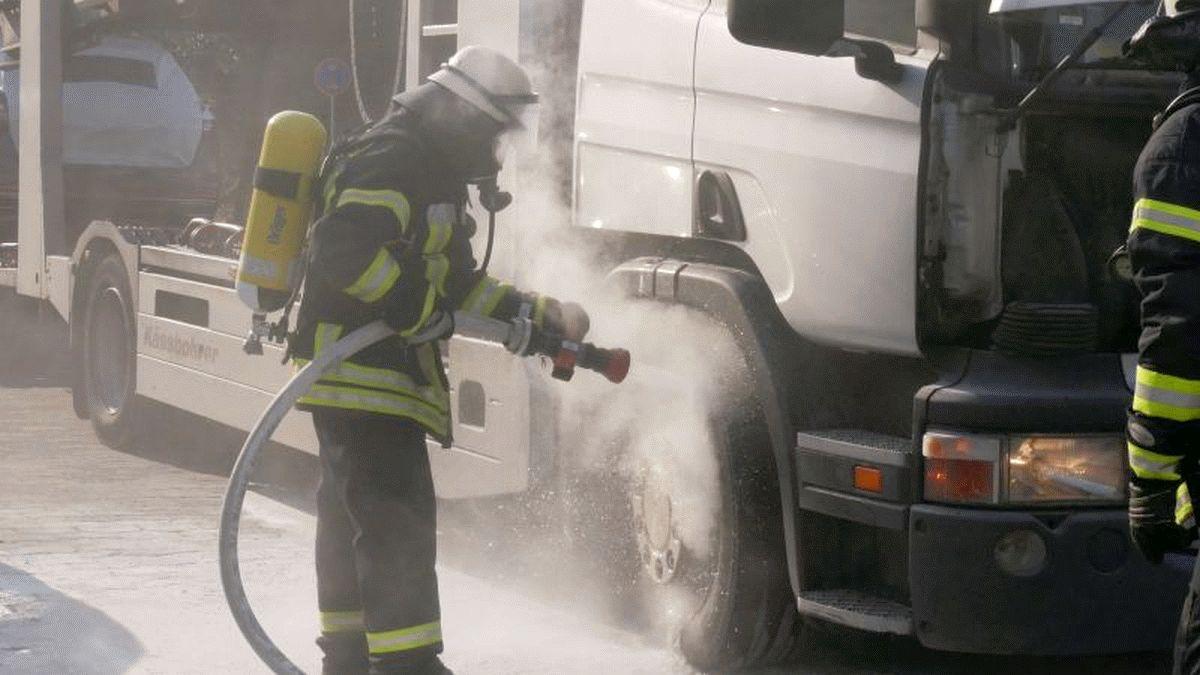 LKW – Brand in der Lachtehäuser Straße