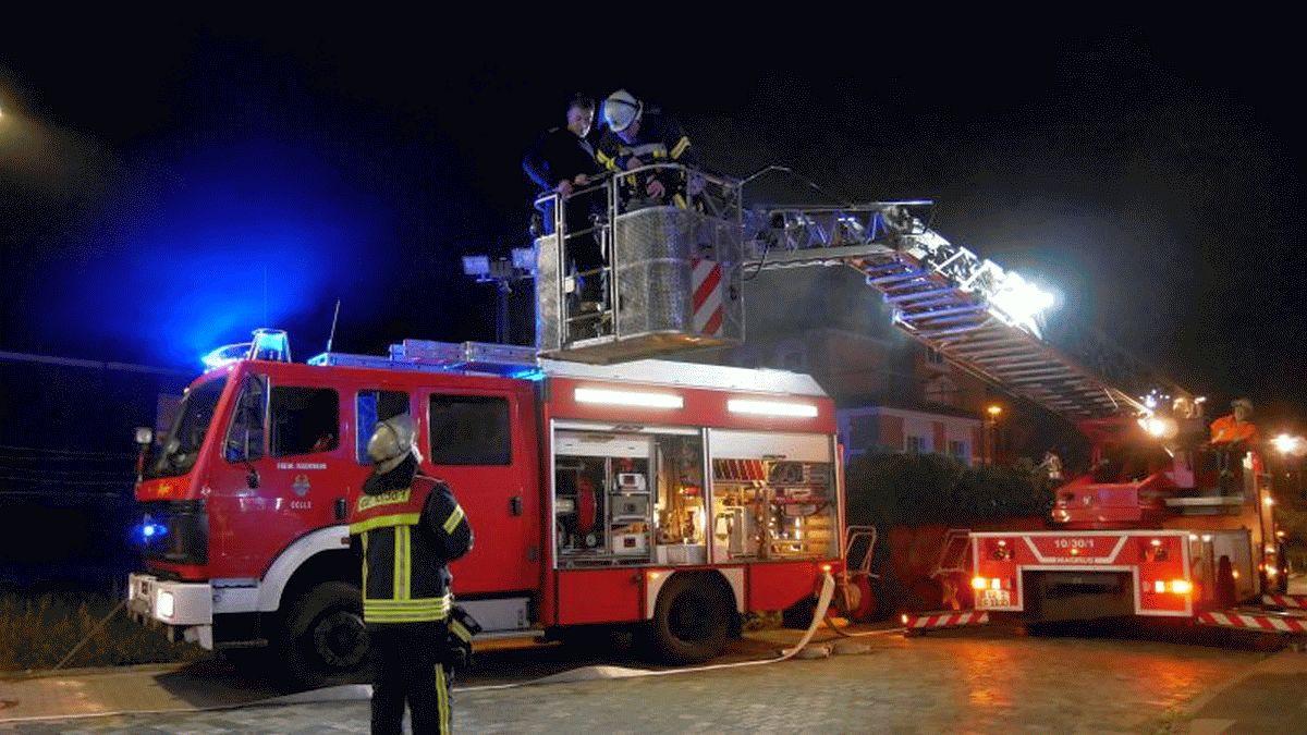 Celler Feuerwehr übt den Ernstfall im Amtsgericht Celle