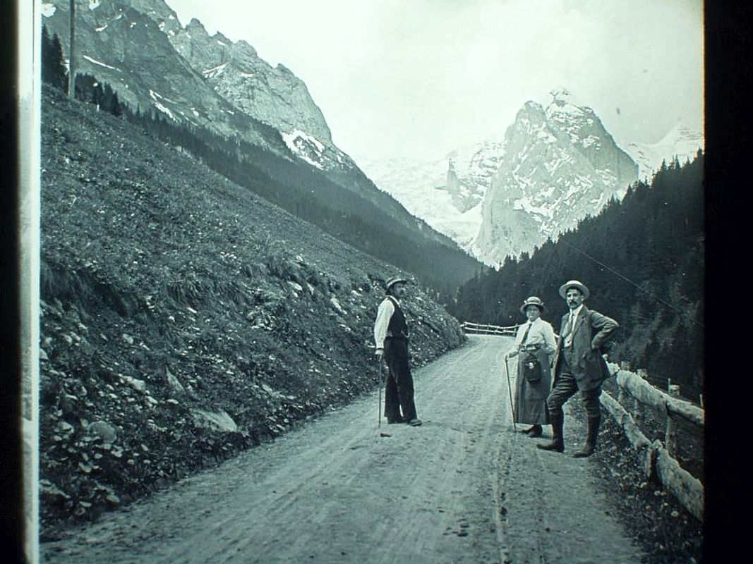 Bergwelt der Schweiz im Kaiser-Panorama