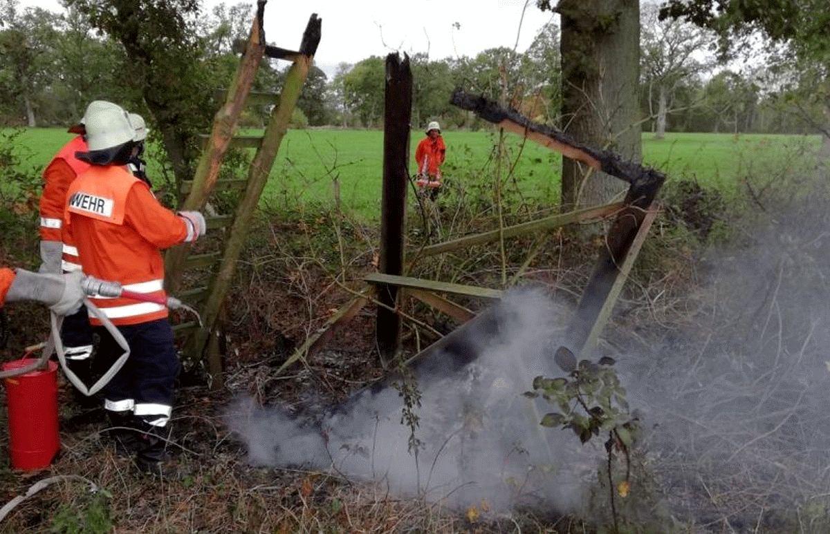Erneuter Brand eines Jagdstuhls