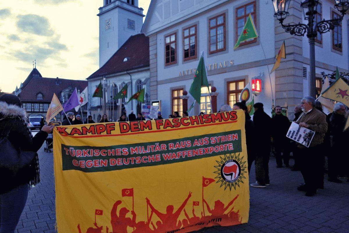Erneuter Protest in Celle gegen den Angriffskrieg des türkischen Militärs auf Nord- und Ostsyrien