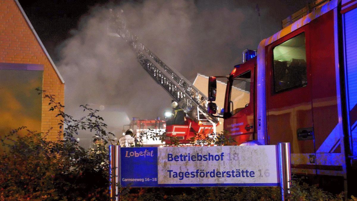 Feuerwehren aus Hambühren und Celle üben gemeinsam bei der Lobetalarbeit