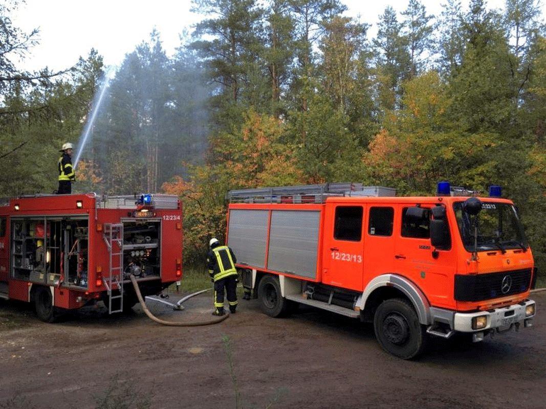 Großangelegte Einsatzübung der Feuerwehren der Stadt Bergen