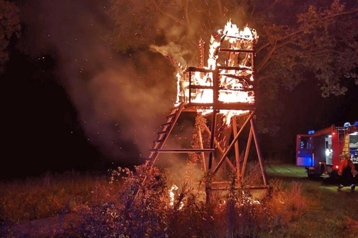 Jagdstuhl brennt in Wienhausen