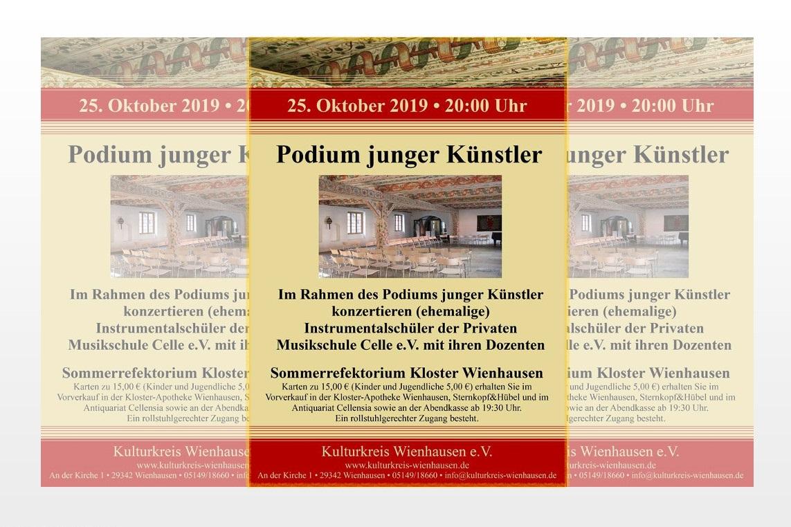 """Konzert mit jungen Künstlern der """"Privaten Musikschule Celle e.V."""" im Sommerrefektorium des Klosters Wienhausen"""