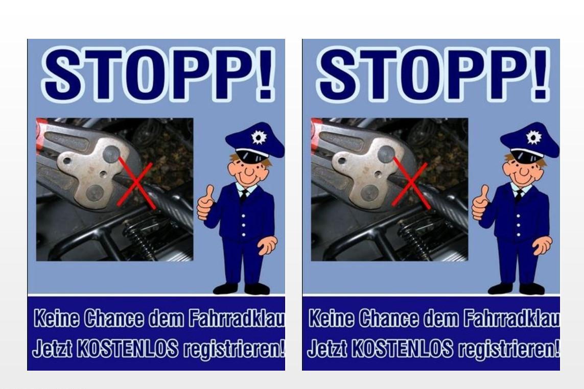 Kostenlose Fahrradregistrierung bei der Polizeistation Hambühren mit Nachwuchs-Werbestand