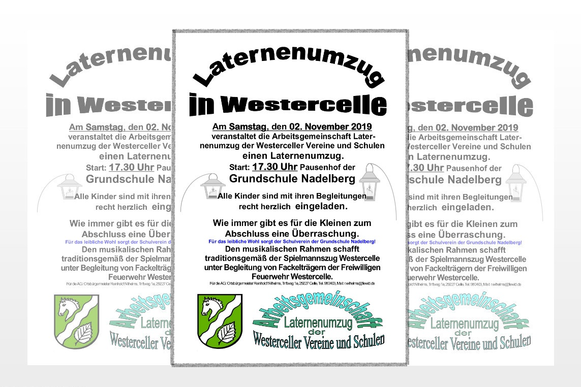 Laternenumzug in Westercelle am 02. November 2019