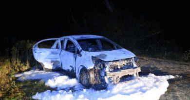 PKW aus Schweden ausgebrannt