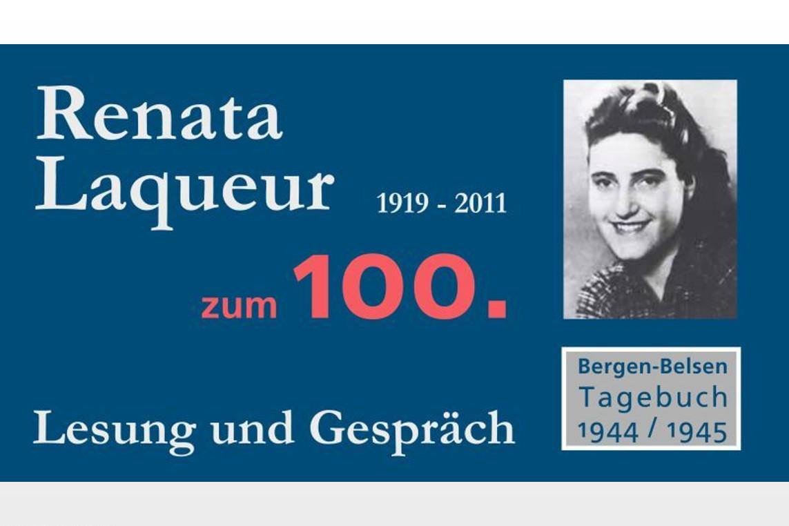 Veranstaltung zum 100. Geburtstag von Renata Laqueur