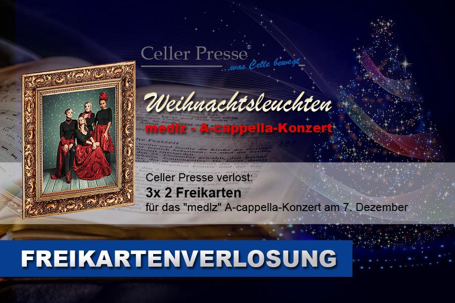 """Freikartenverlosung für das """"medlz"""" Weihnachtskonzert am 7. Dezember in Hannover"""