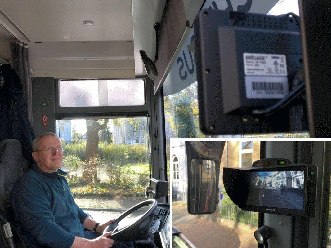 Bücherbus mit Abbiegeassistenten ausgerüstet – Installation als Vorbild für die Üstra in Hannover