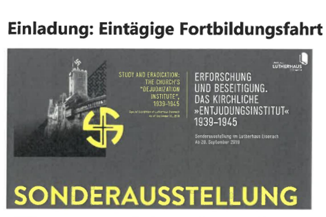 """Einblicke zum """"Kirchlichen 'Entjudungsinstitut'"""""""