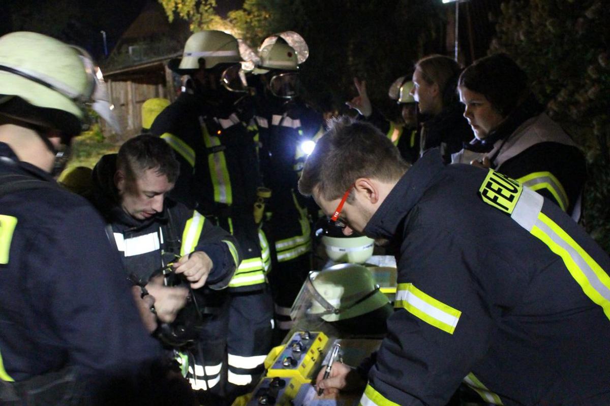 Feuerwehr Winsen/Aller übt den Ernstfall