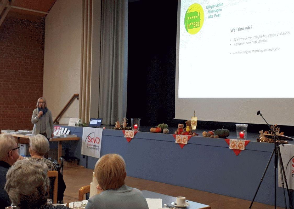 Gut besuchter Info-Nachmittag des SoVD Ortsverbandes Nienhagen mit Informationen über den Bürgerladen Nienhagen