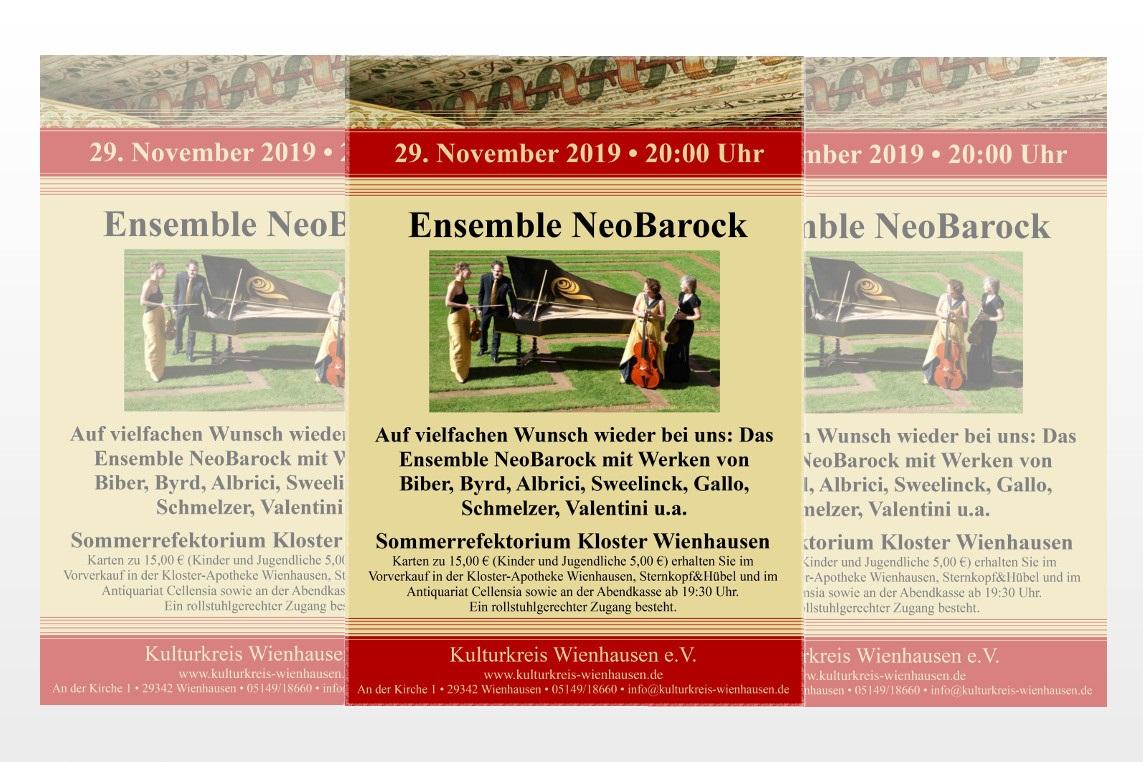 Konzert mit Kammermusik des Barock im Kloster Wienhausen mit NeoBarock