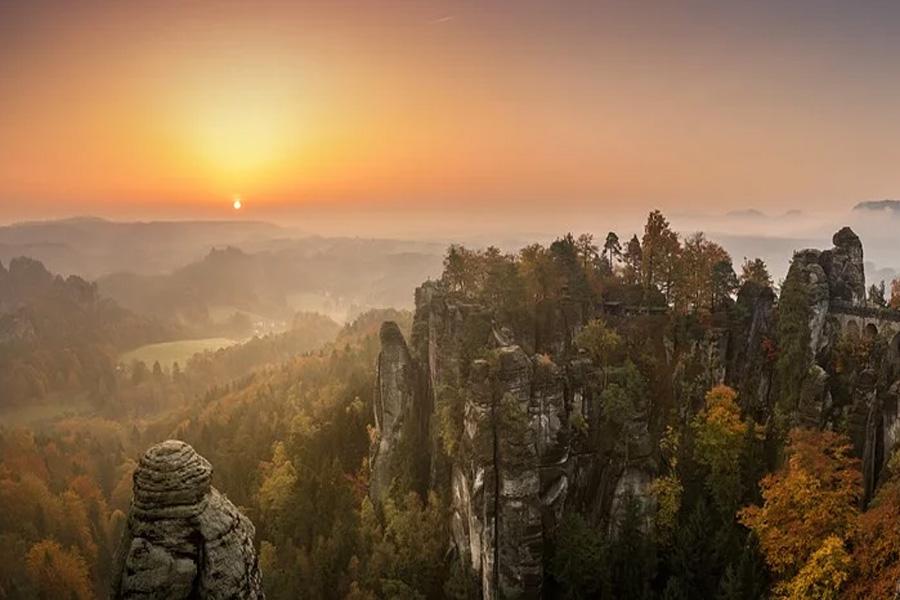 Sächsische Schweiz im Kaiser-Panorama