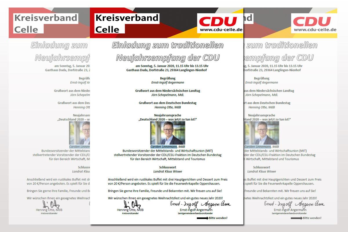 Traditioneller Neujahrsempfang der Kreis-CDU am 5. Januar 2020