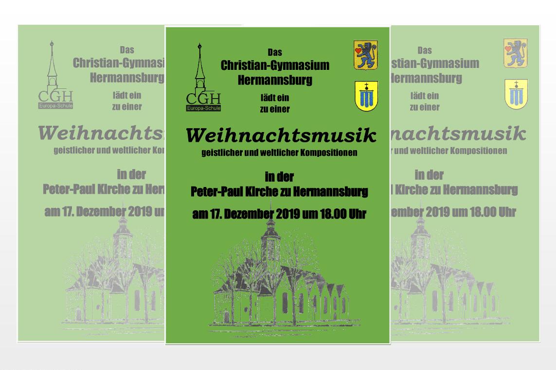 Weihnachtskonzert am Christian-Gymnasium
