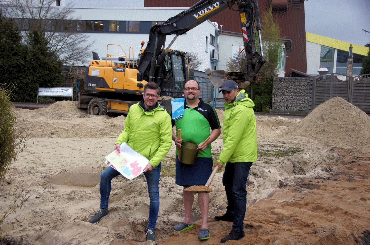 Baubeginn der neuen Event-Sauna im Celler Badeland