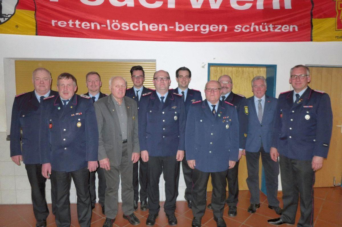 Jahreshauptversammlung der Feuerwehr Habighorst – Wolfgang Jahnke für 60-jährige Mitgliedschaft geehrt