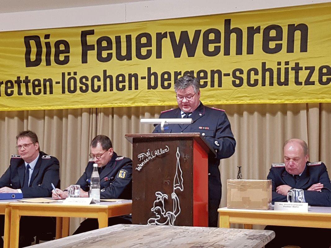 Jahreshauptversammlung der Freiwilligen Feuerwehr Winsen/Aller