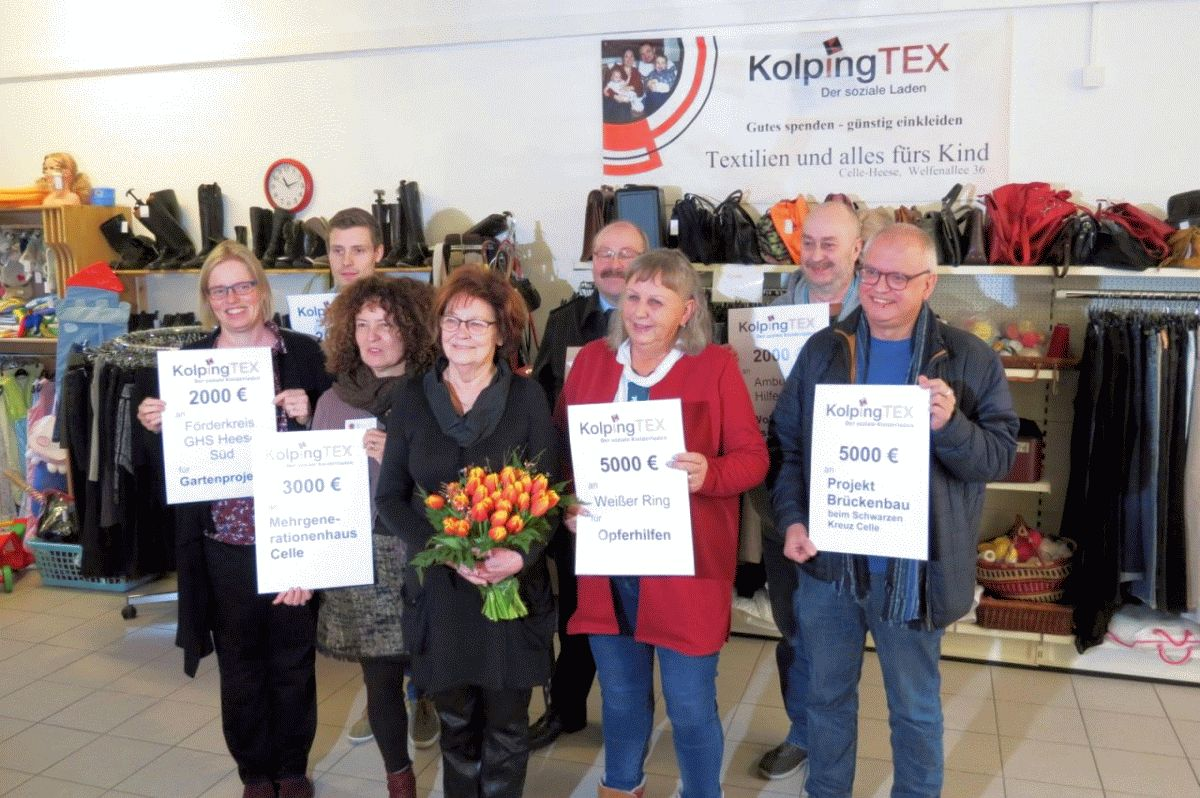 KolpingTEX spendet 25.000Euro an soziale Initiativen