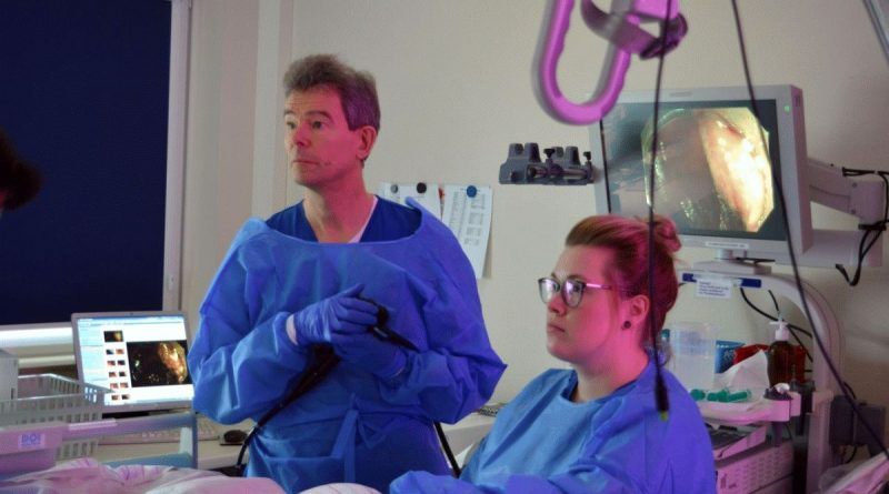 """AKH Celle wird zu """"Klein Hollywood"""": Live-Endoskopien  per Satellit in die MHH nach Hannover übertragen"""