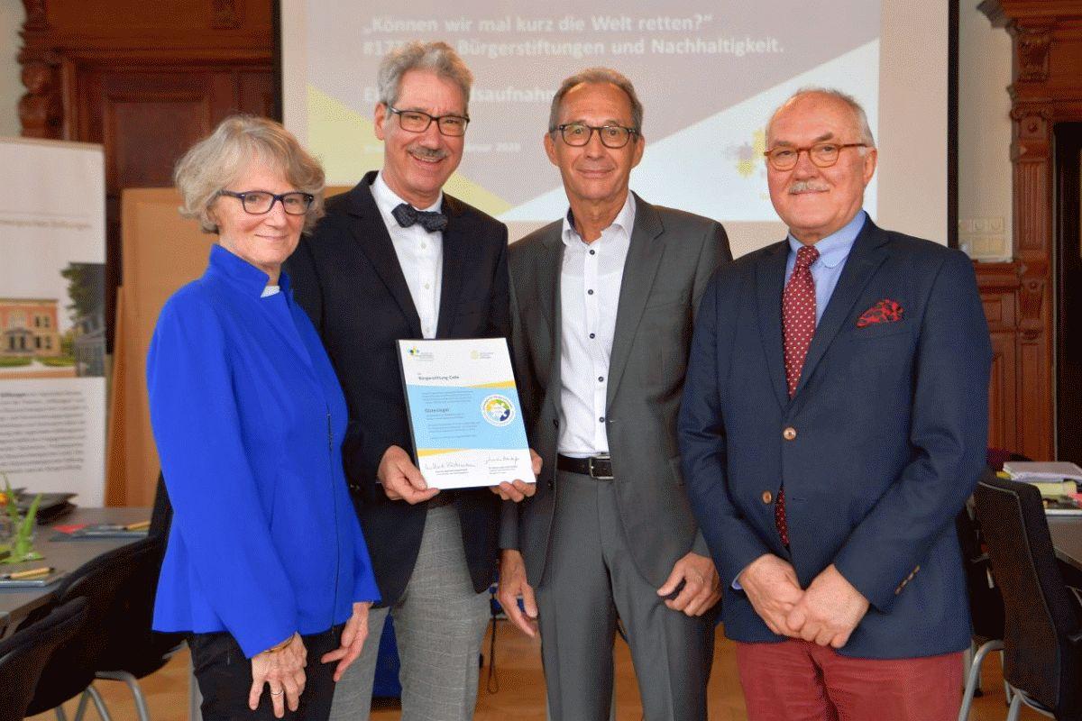 Bürgerstiftung Celle mit Gütesiegel ausgezeichnet
