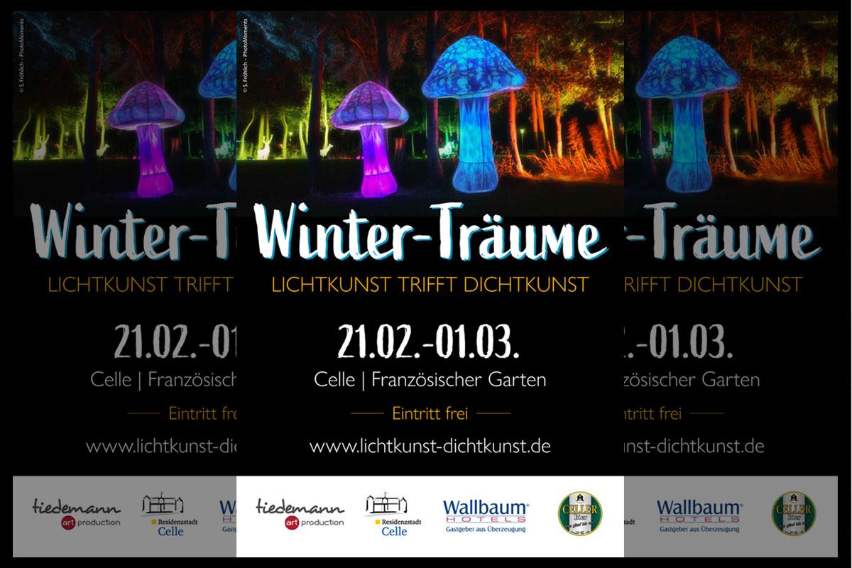 Celler Winterträume: Lichtkunst trifft Dichtkunst im Französischen Garten vom 21.02.-01.03.2020