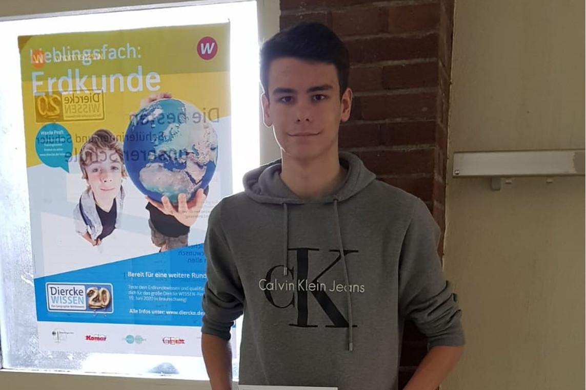Diercke Wissen 2020 – Malte Schütte Schulsieger am Hölty-Gymnasium