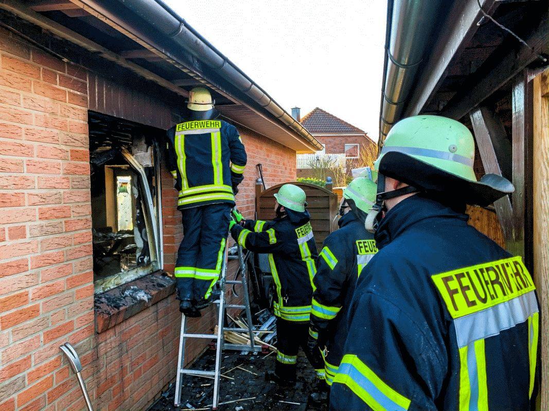 Einfamilienhaus nach Brand unbewohnbar