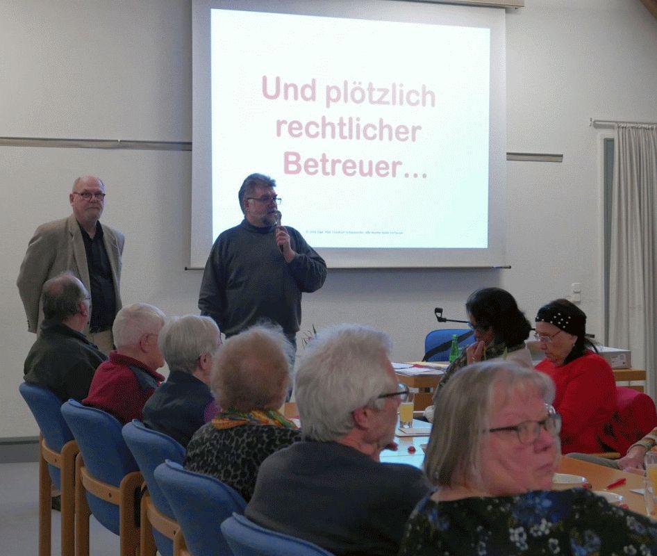 Info-Abend von SoVD Ortsverband Nienhagen und Seniorenbeirat Nienhagen informiert zum Thema Rechtlicher Betreuer
