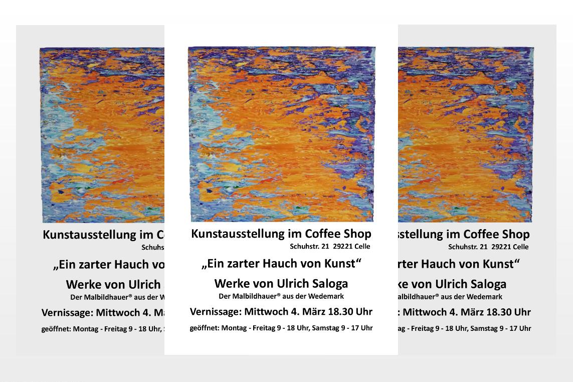 """Kunstausstellung im Coffee Shop """"Ein zarter Hauch von Kunst"""""""