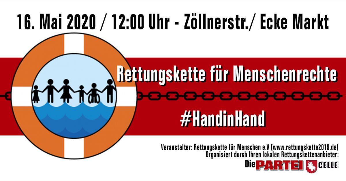 Rettungskette / Menschenkette am 16.05 in Celle / Europa