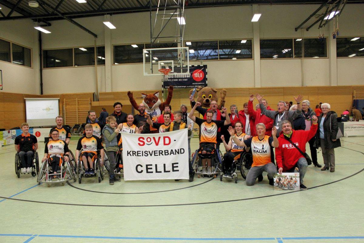 SoVD besucht ein Rollstuhl-Basketballspiel