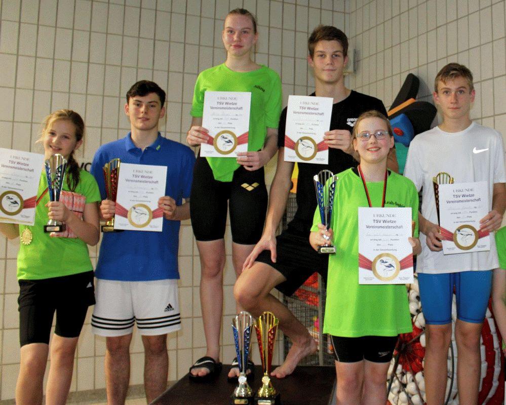 Vereinsmeisterschaften der Wietzer TSV-Schwimmer – Nico Wahl verteidigt Titel