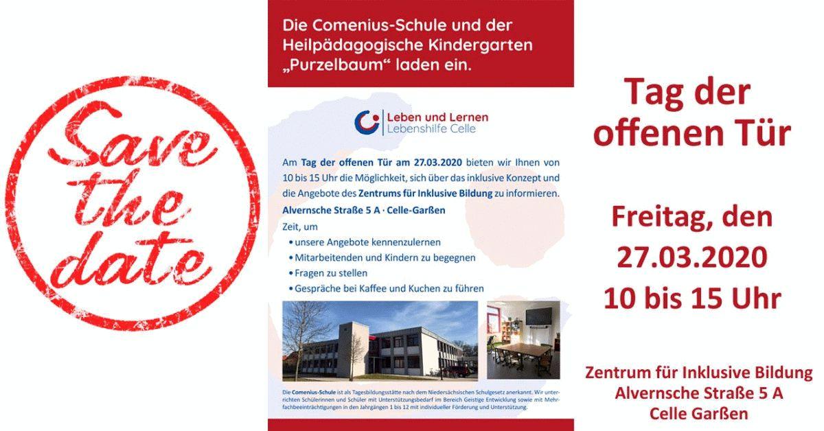 """Comenius-Schule und der Heilpädagogische Kindergarten """"Purzelbaum"""" laden ein"""