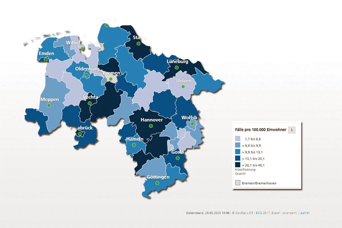Coronavirus Aktuelle Lage In Niedersachsen Celler Presse Was Celle Bewegt