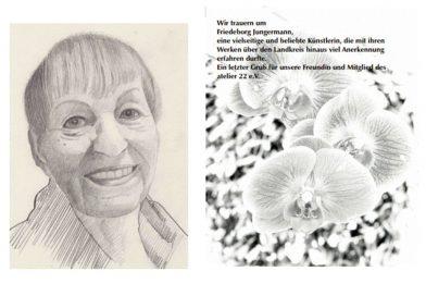 Gedenknachmittag im atelier 22 – Dankbarkeit und Abschied von Friedeborg Jungermann