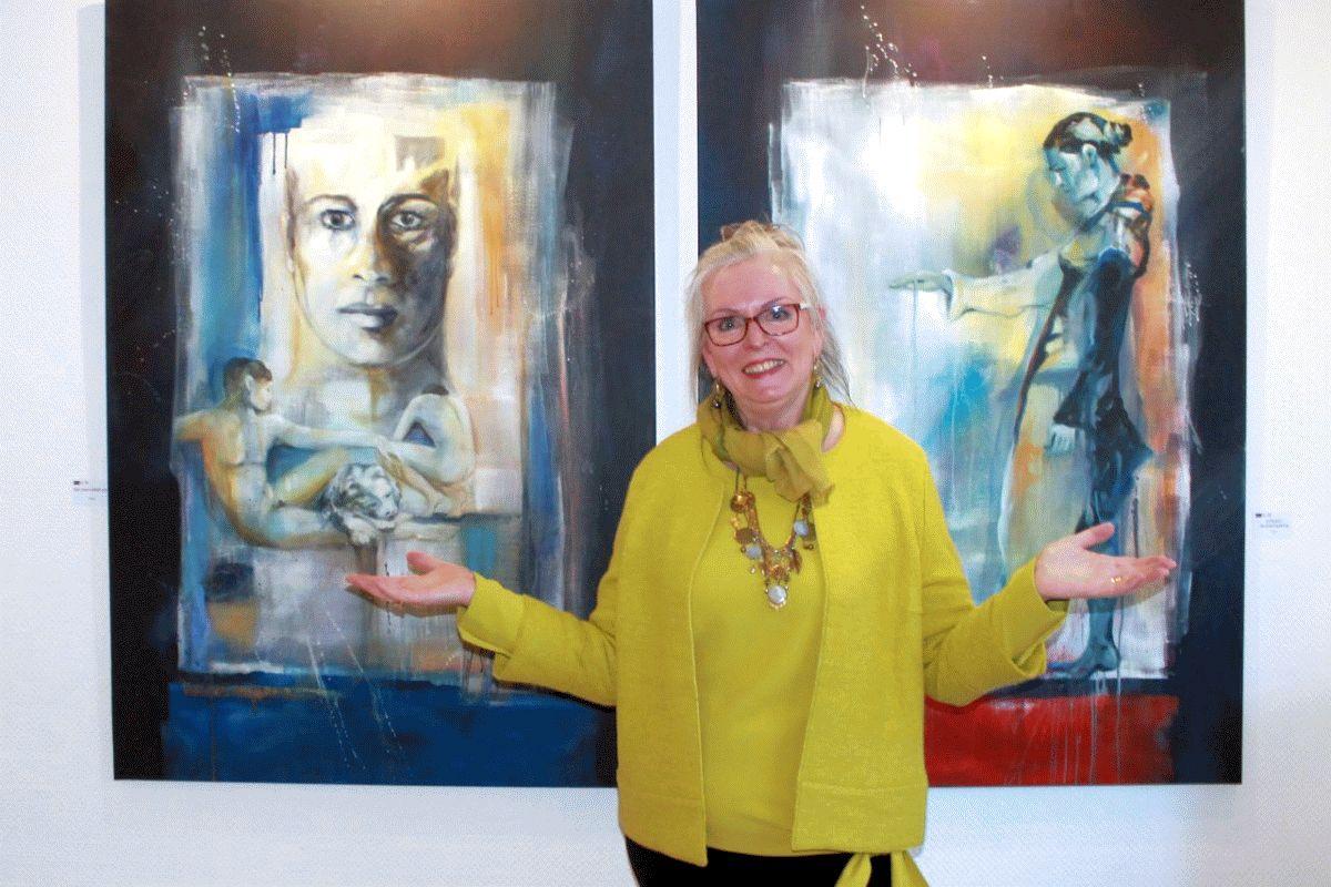 """Kunst ohne Grenzen mit Gabriele Templin-Kirz – atelier 22 eröffnet die Ausstellung """"Faszination Malerei"""""""