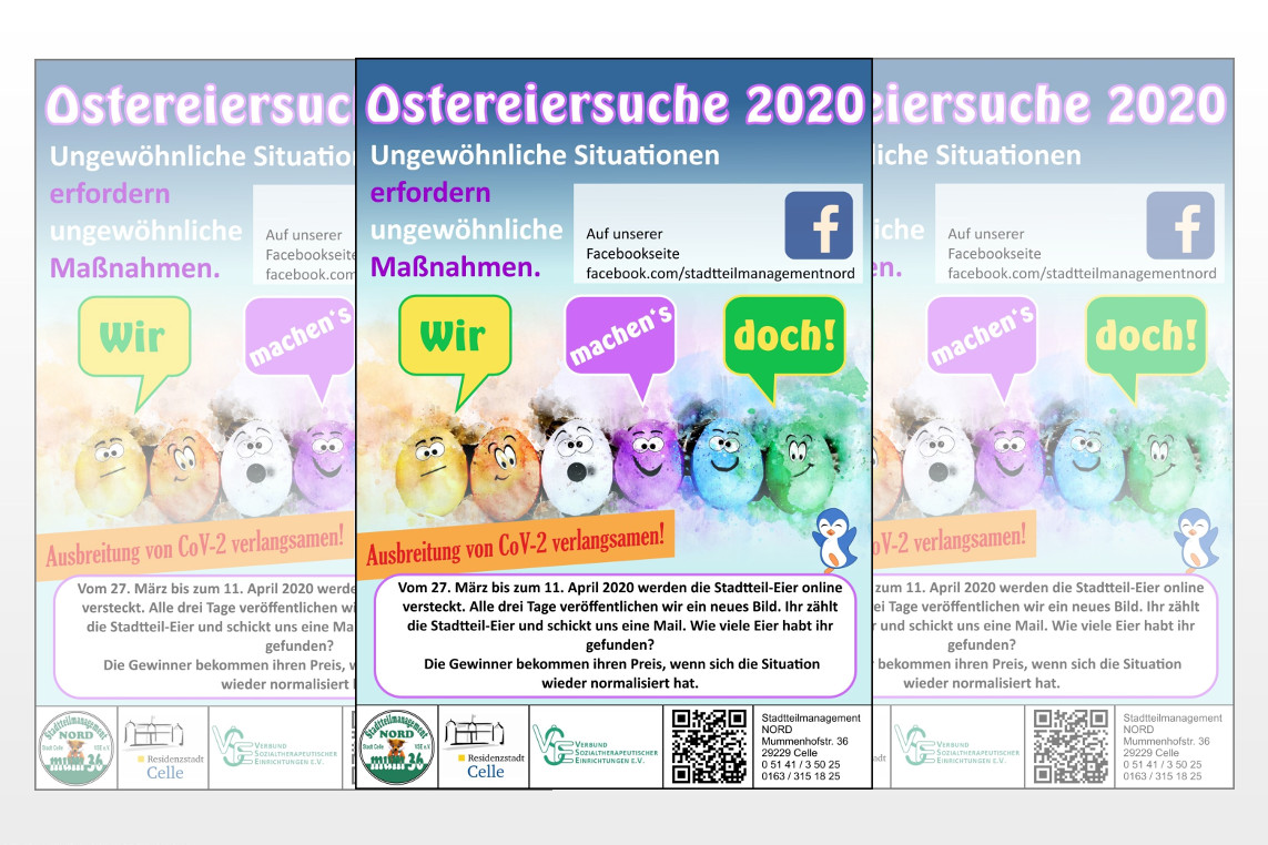Ostereiersuche 2020 in Zeiten der Coronakrise
