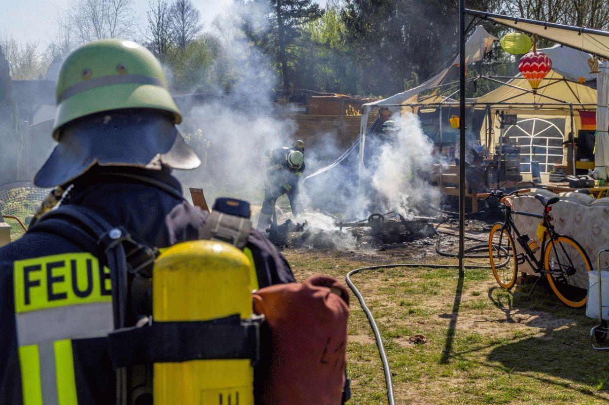 Brand auf Campingplatz sorgt für Einsatz des Löschzuges Langlingen