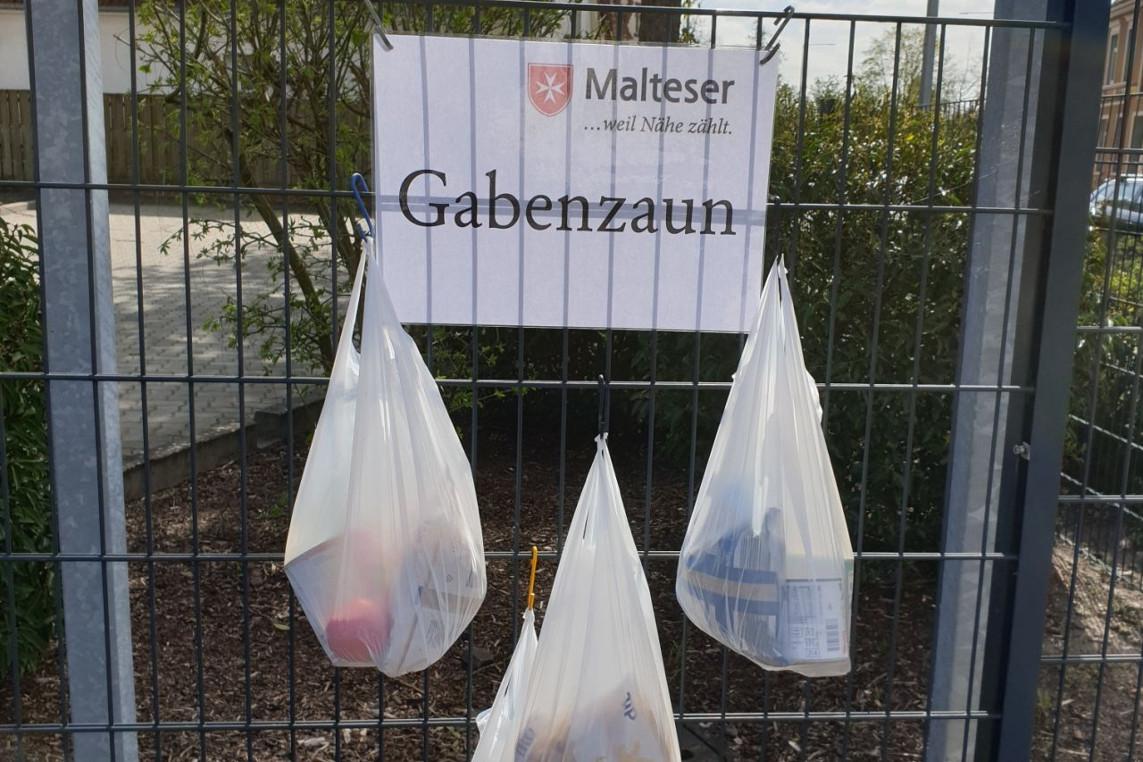 """""""Gabenzaun"""": Am 19.April unterstützt der Malteser Hilfsdienst in Celle bedürftige Menschen in der Corona-Krise"""