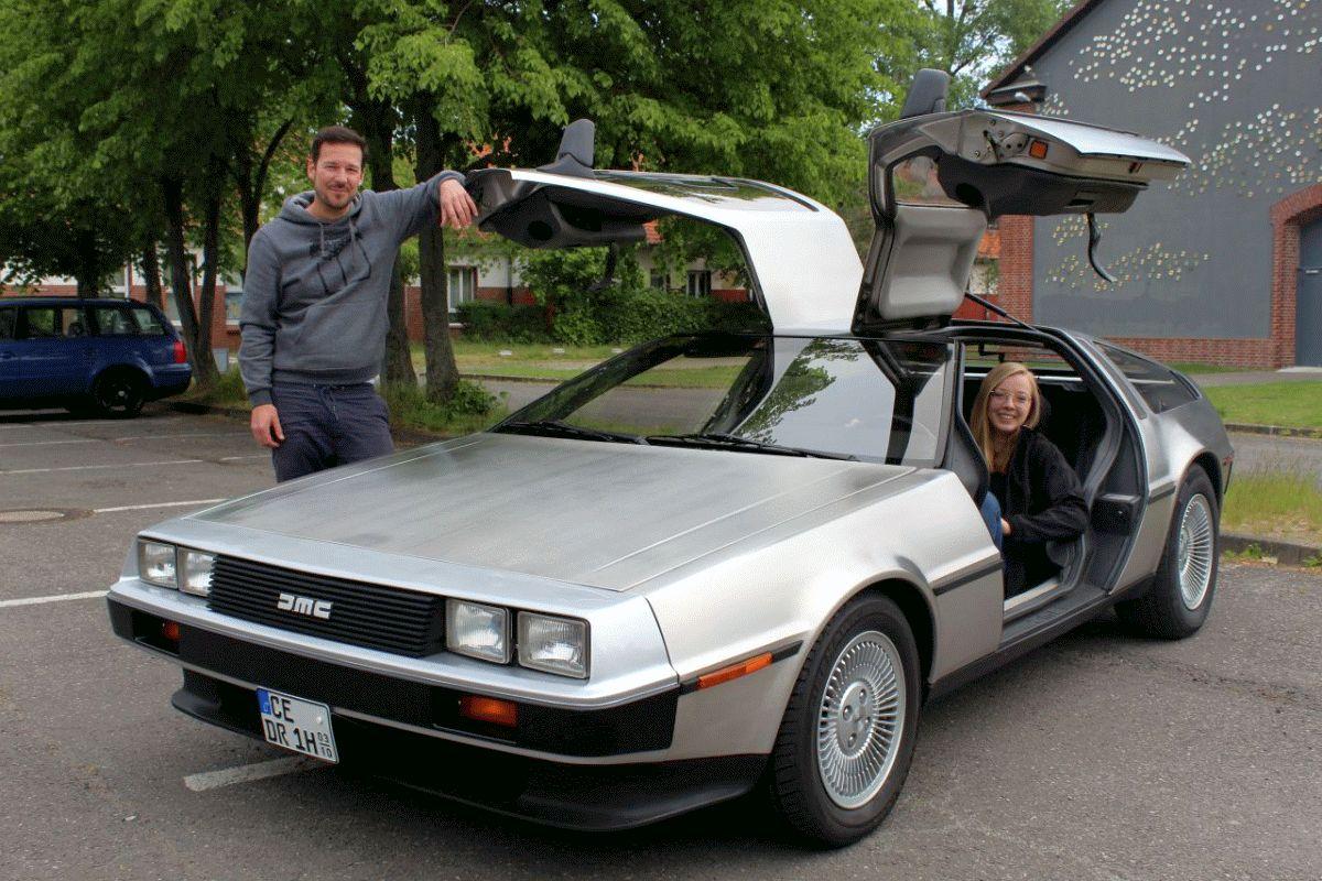 """Besonderes Highlight für alle Fans des Films """"Zurück in die Zukunft"""": Echter DeLorean im Autokino Celle"""