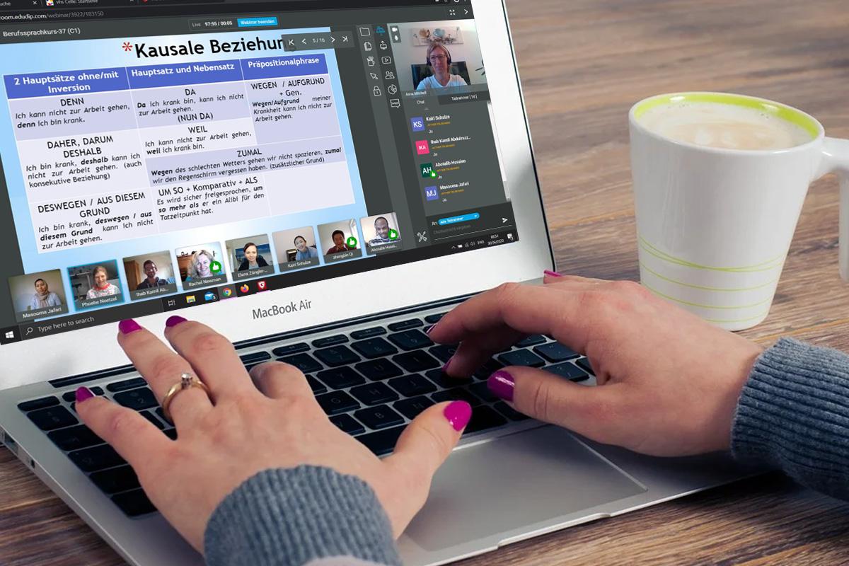 vhs Celle stellt auf E-Learning um – Erste Deutschkurse gehen Online ebenso wie Seminare und Livestreams.