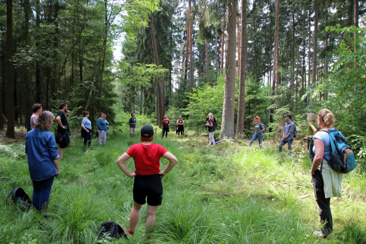 """Erzieher-Fortbildung im Haus Siedenholz – Mit """"Kindern in den Wald"""" war das Motto der Fortbildung im Waldpädagogikzentrum Ostheide"""