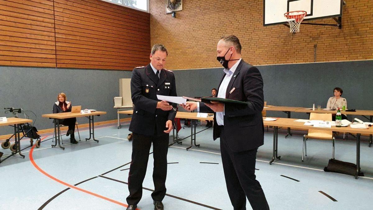 Gemeinderat Hambühren bestätigt offiziell Alexander Weber als Ortsbrandmeister